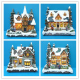 راتينج عيد ميلاد المسيح زخرفة 11 '' يشعل منزل [كريستمس تر], مصباح مع [أدبتور]