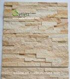 Sy-154壁のCladding&Wallのカバーのための黄色い木製の砂岩文化石