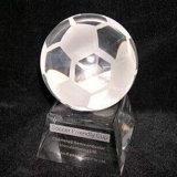 フットボールのスポーツの記念品のための水晶トロフィ賞