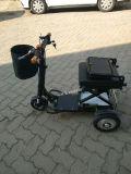 350W Mini Foldable Lithium Battery Scooter de mobilidade elétrica de 3 rodas (MS-013)
