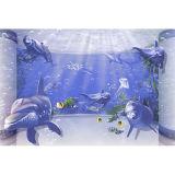 Azulejo de la pared 3D de inyección de tinta del azulejo por un baño de diseño