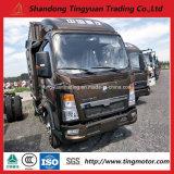 판매를 위한 Sinotruk HOWO 4*2 상자 트럭 또는 경트럭
