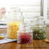 Banheira de vender Grau Alimentício Preseving Candy Copo de vidro com tampa de vidro
