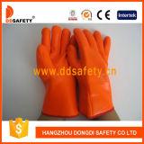Перчатка безопасности перчатки пены PVC померанца Ddsafety 2017 химически упорная