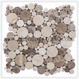 Due colori scuri e mattonelle di mosaico di marmo chiare