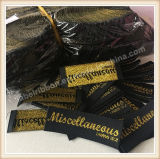 Qualität preiswerter Preis gesponnenes Lables, Stutzen Lables, Kleid-Kennsätze
