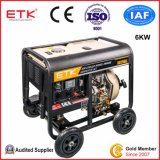 휴대용 Small Single Phase Diesel Generator Set (6KW)