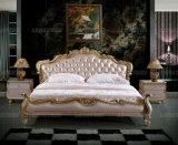 E305 Royal diseño de mobiliario de cama de cuero italiano