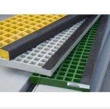 FRP/GRP/Fiberglass Stair Tread Cover con Black Nosing