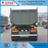 3 Semi Aanhangwagen van de Kipwagen van de Vorm van U van de as de Achter in Voorraad voor Vervoer van het Zand