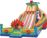 水スライドが付いている熱い販売の膨脹可能な弾力がある城