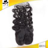 fermeture du lacet 3.5*4Brazilian de cheveu de 100percent Remy