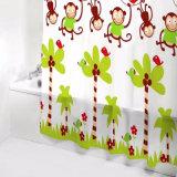 판지 원숭이 PEVA는 목욕탕을%s 샤워 커튼을 방수 처리한다