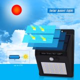 20 светодиодный индикатор использования солнечной энергии для использования вне помещений на стену на улице лампы освещения