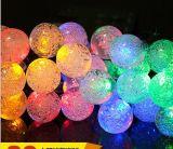 Banquete de boda de la Navidad de la lámpara de la luz de hadas de la cadena de la batería solar del LED