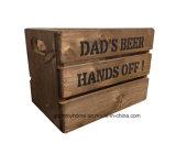 Engradado de cerveja de madeira personalizado