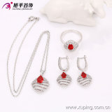 63544 ultimo Fashion Luxury Sillver-Plated Female Jewelry Set con Zircon