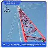 Varilla de acero alambre Guyed Trianglar torre de transmisión de señal