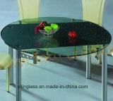 색깔 패턴에 의하여 프릿으로 만들어지는 커피용 탁자 상단 유리