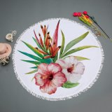 Esteiras redondas da praia do projeto quente da flor da venda