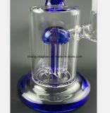 Blauer Glasfilter-Tabak, der Schlauchleitung aufbereitet