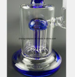 Reprise en verre bleue de filtre de tube de fumage