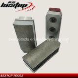 Bloque abrasivo dividido en segmentos 100# de Fickert del diamante del metal para el granito