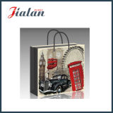Glossy Laminated Art Paper Architecture & Car Shopping Gift Paper Bag