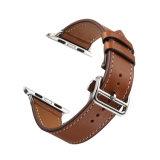 prix d'usine Meilleures ventes de bonne qualité de 38mm 42mm Bracelet en cuir pleine fleur brun