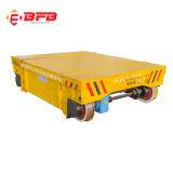Chariot plat électrique à appareils de manutention de matériau pour l'industrie lourd