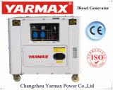 6kVA 6.5kVA Yarmax ultra portátil refrigerado por aire silencioso Generador Diesel Ym10000T