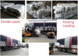 트레일러는 의 세로로 연결되는 차축 구조망 형성을 각인하는 강철로 만든 구조망 트레일러 흙받기를 분해한다