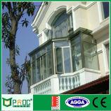 Aluminiumlegierung-schiebendes Glasfenster
