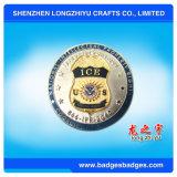銀はロゴによって金属の硬貨形式の中国の浮彫りにされた製造者をめっきした