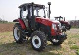 Tractor van het Landbouwbedrijf van Huabo 120HP 4WD 6cylinder van Weifang de Landbouw met de Lader van VoorEind tz-12