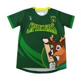 Les enfants de la sublimation Green Chemises T-shirt personnalisé de gros
