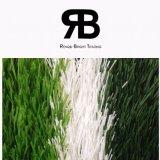 hierba artificial sintetizada del balompié del césped del fútbol durable de 40-50m m que ajardina para la decoración del campo