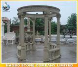 Gazebo esterno del granito cinese con la scultura