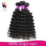 Extensão brasileira do cabelo humano da onda profunda por atacado do Virgin