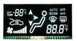 Pantalla del indicador del neumático del radar de la inversión del coche que exhibe la pantalla del LCD
