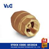 Válvula de retenção de mola de aço inoxidável em bronze (VG12.90081)