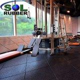 Мелиорированных резиновые высокого качества коммерческих спортзал пол
