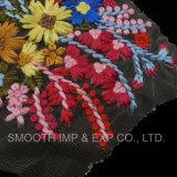 Tessile del tessuto delle signore della maglia del merletto ricamata bello fiore 3D di modo