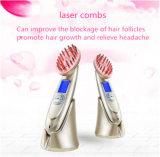 Pilha recarregável de envio rápido restabelecimento de pêlos a laser Pente Pente de vibração electrónica massajador
