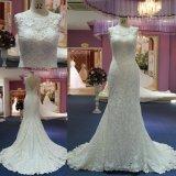 Laço elegante da sereia que nivela o vestido de casamento dos vestidos/vestido nupciais Mat-102