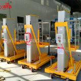 levage en aluminium de chargement électrique de bonne qualité de Hyaraulic de vente chaude de 6m 100kg Chine petit avec la conformité de la CE