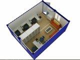 Полуфабрикат плоское модульное снабжение жилищем контейнера