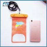 屋外浜の水泳のための防水携帯電話袋箱