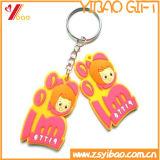 PVC macio Keychain do projeto bonito quente da venda (YB-LY-PK-01)