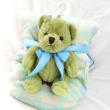 Baby-Zudecke mit Plüsch-Spielzeug-weichem Mikronerz mit Sherpa-Teddybären